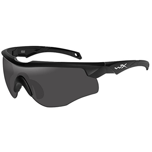 Wiley X Wx Rouge - Gafas de sol unisex, color negro mate, gris ahumado, transparente/óxido claro, pequeño/XXG