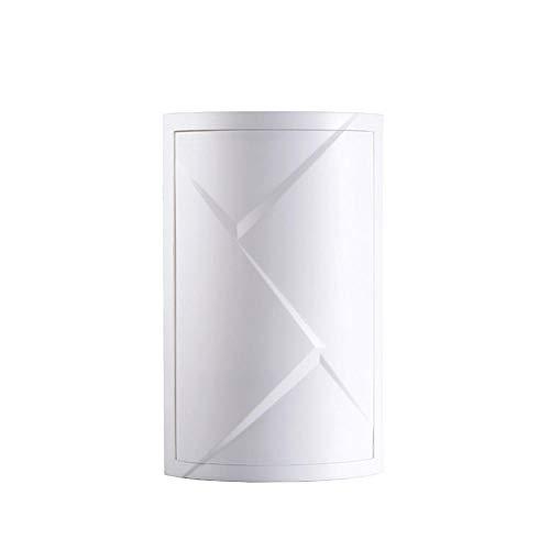 NingVong Étagère de Salle de Bain, Support de Rangement Mural en Plastique avec Triangle tournant, Support d'angle pour Armoire de Rangement de Cuisine Anti-poussière@Blanc