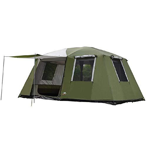 XINZ-BYT Carpa Tienda 1hall Dos Habitaciones 6-12 Personas Capas de Doble Camping Camping Gazebo Grande para jardín de Camping (Color: Verde, Tamaño: 230x305x210cm) Carpa para Camping
