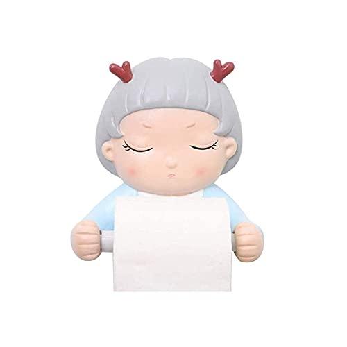 YLLAND Cajas de pañuelos de coche de dibujos animados soporte de pañuelos asiento trasero bandeja de papel dispensador de toallas de papel higiénico (Color: B) LNNDE (Color: A)