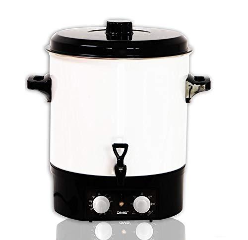 DMS® EA27.T Einkochautomat 27 Liter Einkochtopf Glühweintopf Heißgetränkeautomat Zeitschaltuhr bis 120 Minuten, einstellbare Temperatur 1800 Watt Einkocher