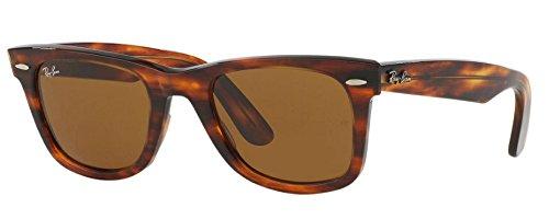 Ray-Ban RB2140 Original Wayfarer Sunglasses (50 mm, Light Tortoise Frame Solid B15 Lens)