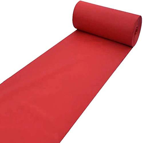 SYJH Alfombra de Corredor para Pasillo Corredor de Alfombra Roja desechable de 2 Mm de Espesor para La Boda del Partido del Evento de Graduación Alfombra Roja Eventos(Size:1.2×15m(4×49ft),Color:Rojo)