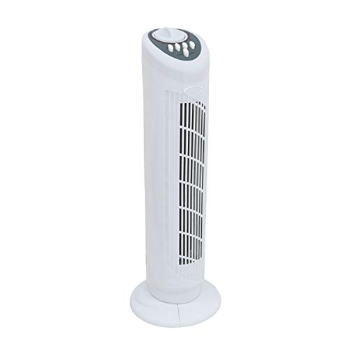 Oypla Electrical 30' Free Standing 3-Speed Oscillating Tower Cooling Fan