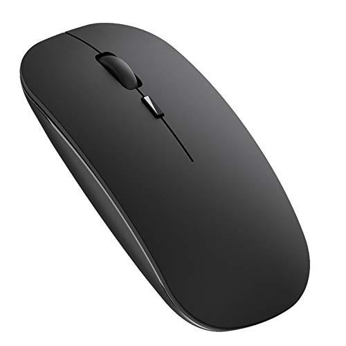 Ratón Inalámbrico Recargable, iAmotus Ratón Bluetooth Ultra Delgado Receptor Nano 2.4 GHz Wireless Mouse 1600 dpi Ajustable para Laptop/Macbook/iPad/iPhone/Portatil/Computadora/Windows/Linux/V