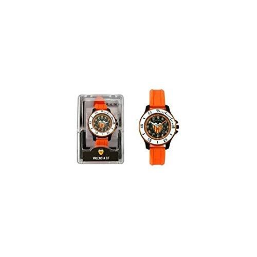 Valencia C.F. Reloj Analógico-Digital para Unisex-Adulto de Automático con Correa en Cuero sintético 68602