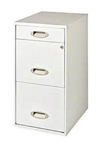 3-Drawer Filing Cabinet Steel Off-White - Hirsh