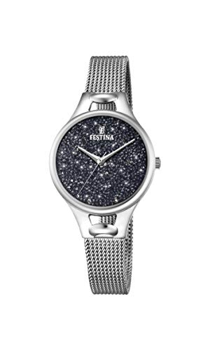 Festina Damen Analog Quarz Uhr mit Edelstahl Armband F20331/3