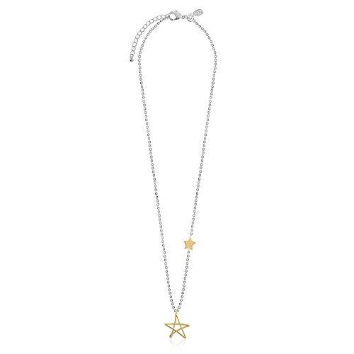 Joma Jewellery Collar de estrella de flores chapado en oro y plata viene con bolsa de regalo.