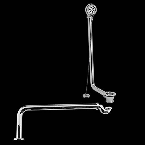 Hudson Reed Ablaufgarnitur - Ab- und Überlaufgarnitur inkl. Siphon aus Verchromtem Messing - Ideal für Freistehende Badwannen & passend für Badewannen mit einer Seitendicke von 20 mm - Modernes Design