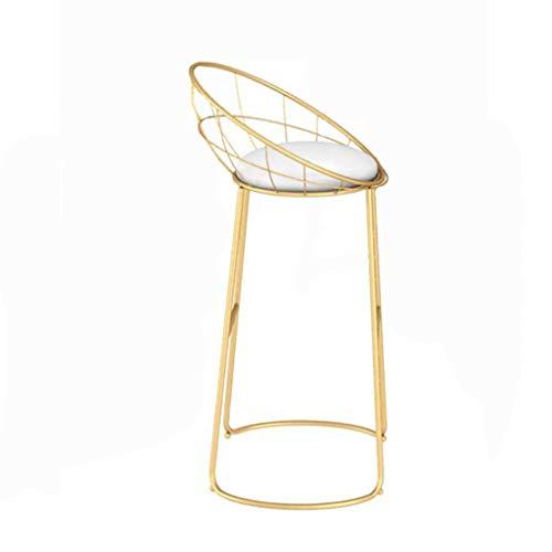 Feng-stool Trona de Oro, Living Barra del Arte del Hierro de recepción de heces - Silla Restaurante Hotel Bodega Cafe Lounge (Size : 50 * 43 * 93CM)