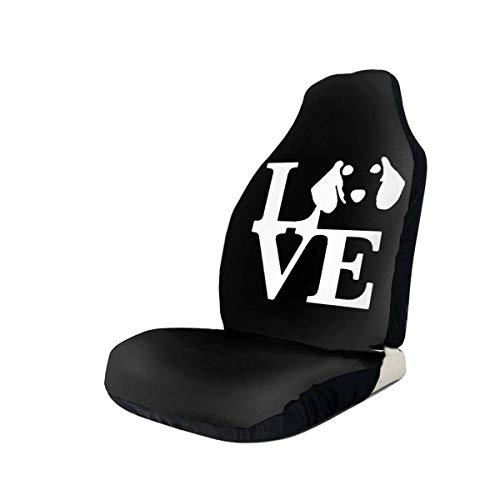 Little Yi Funda para asiento de coche Dachshund Dog Love para la mayoría de los coches