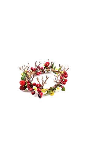 TYZP Corona Decorativa de Navidad Novia Corona Corona de Flores Accesorios de la Foto de la Fiesta de Navidad Accesorios para el Pelo para el hogar Puerta Frontal Navidad Boda Fiesta decoración
