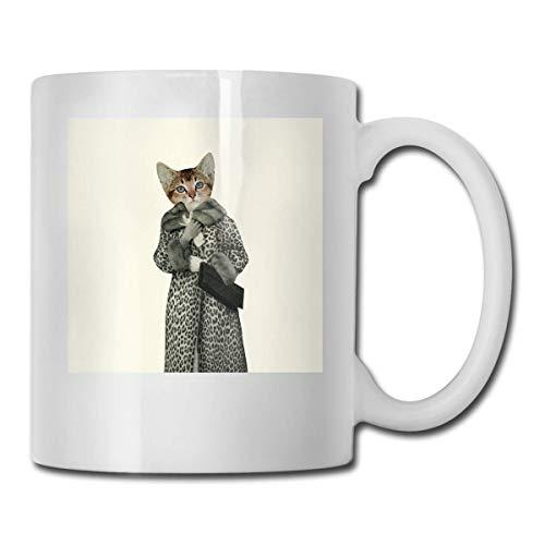 N\A Gatito Disfrazado de Gato Vasos de cermica Cdigo 330ml