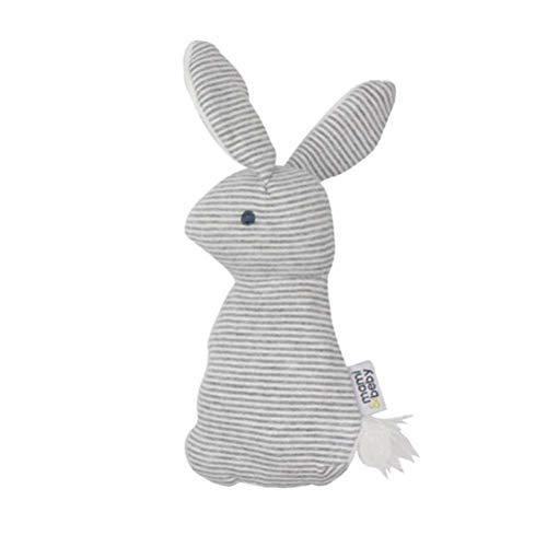 STOBOK Niedlichen Cartoon Weiches Plüsch Spielzeug Gefüllte Kaninchen Plüsch Puppe Cartoon Entzückende Tier Spielzeug Hand Grabbing BB Spielzeug für Baby Kinder Kleinkinder