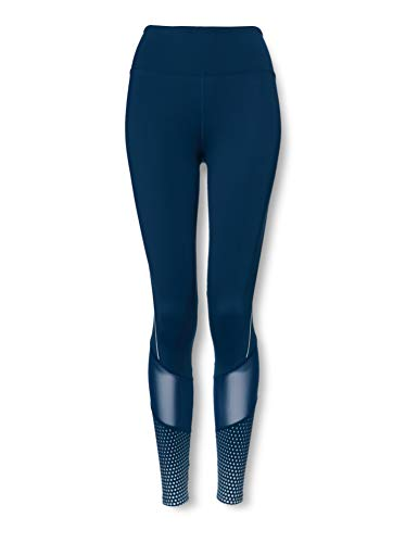 Amazon Marke - AURIQUE Damen Sportleggings mit hohem Schnitt, Blau (Gibralter Meer), 38, Label:M