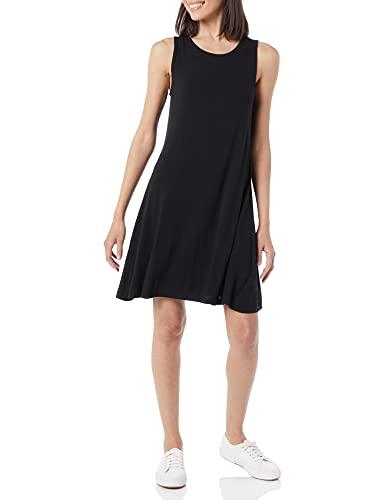 Amazon Essentials Women's Tank Swing Dress, Black, L