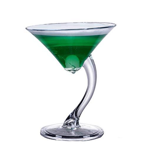 Copa de vino de cristal de 10 onzas, transparente resistente al calor, taza de whisky de champán, taza de jugo para beber (color: tipo 5)