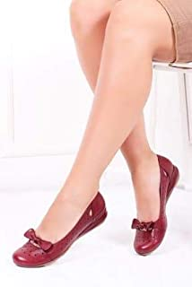 TARÇIN Hakiki Deri Günlük Kadın Babet Ayakkabı TRC50-2824