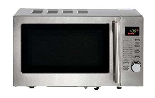 Daewoo 20L 800W Microwave with Grill and Easy Clean Stainless Steel KOR6N7RS 5 Power Levels and Manual 60 Minute Timer, Defrost Function and Glass Turntable- Silver
