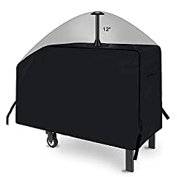 """iCOVER 28 inch Griddle Cover, 600D Heavy Duty Waterproof Anti-UV Canvas Flat Top BBQ Cover for Blackstone 28"""" Outdoor Cooking Gas Grill Griddle Station with Support Pole"""