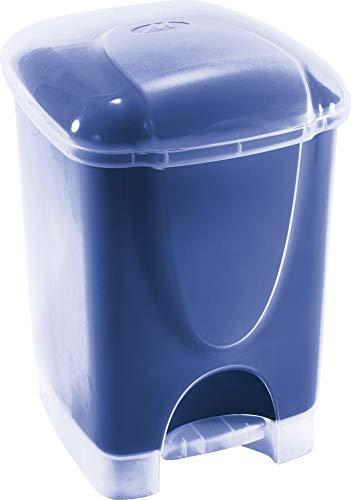 M-Home | Poubelle à Pédale / Salle de Bain | Plastique | Bleu | 23 x 20,5 x 30 cm / 6 L | BINNY DUALFACE 6 | PLS571D-26