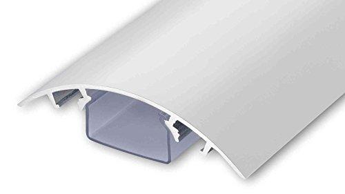 Alunovo, canalina passacavi per tv, in alluminio, laccata, diverse lunghezze, colore bianco, Alluminio, bianco opaco, Länge: 40cm