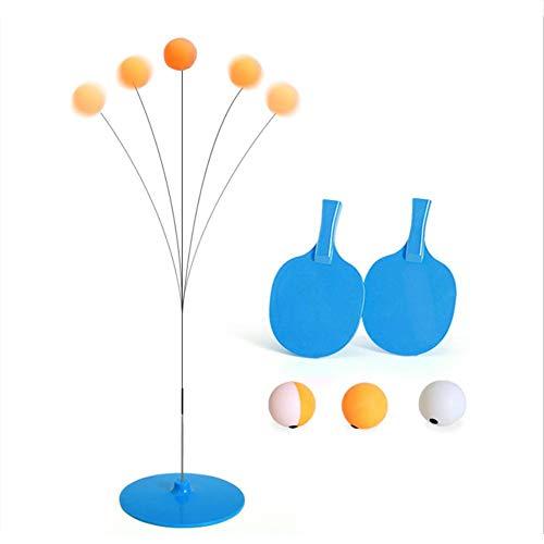 Tischtennis Trainer Mit Elastic Soft Shaft, Rapid Rebound Ping Pong Übungsball 2 Tischtennispaddel & 3 Tischtennisbälle, Freizeit Dekompression Sport Selbsttraining Artefakt Für Anfänger(#003)