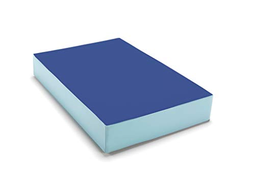 traturio Hüpfmatratze in tollen Farben für alle kleinen Hüpfer 107x70x17 cm (blau/eisblau, 107.00)