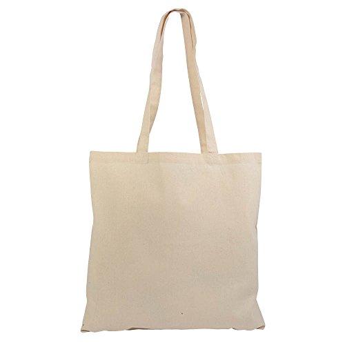 Lot de 10 sacs de courses en Coton naturel 38 x 42 cm