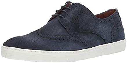 Driver Club USA Mens Genuine Leather Made in Brazil Princeton Wingtip Laceup Sneaker, Navy Suede, 10.5 M US