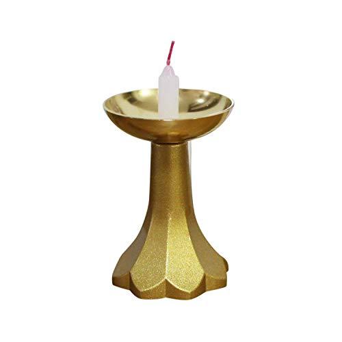 プレミアム もえ ろうそく立て 小ローソク用 ゴールド(金) 完全燃焼 ロウソク立て 燭台 蝋燭