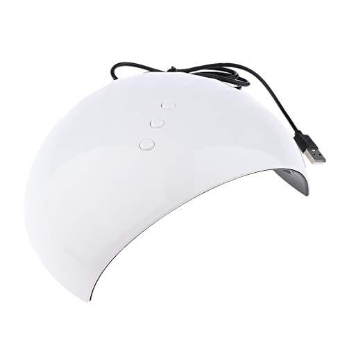 MERIGLARE Secador De Uñas USB 36W LED Lámpara De Uñas UV Para Secado De Gel De Uñas Con 3 Configuraciones De Temporizador