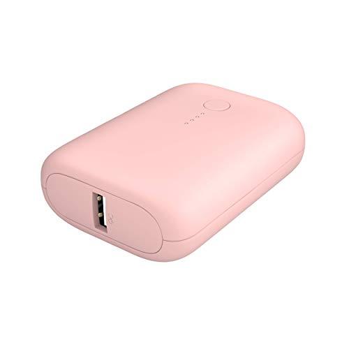 MOTTERU (モッテル) モバイルバッテリー 10000mAh PD18W 対応 174g 大容量 USB-C入出力 USB-A出力 PSE認証済 日本メーカー 2年保証 シェルピンク MOT-MB10001-PK (2020年9月時点)