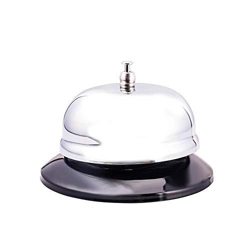 Vektenxi Edelstahlglocke Tischglocke für Tür, Anrufbeantworter, Rezeptionstresen, Restaurant Praktisch und praktisch