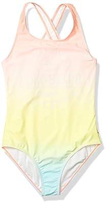 Lucky Brand Girls One-Piece Swimsuit, Katrina Blue Tint, Medium (8/10)