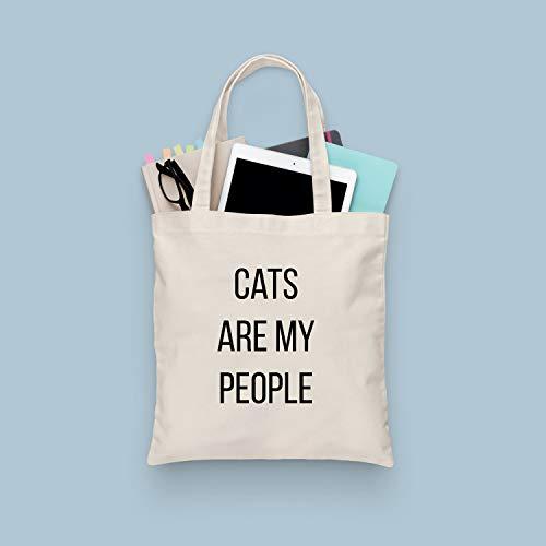 Katzen-Tragetasche – Cats Are My People Lebensmittelkiste – Katzen-Zitat