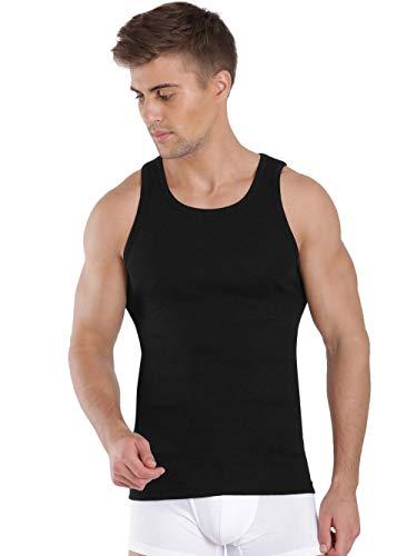 Jockey Men's Cotton Vest (8901326106358_FP04_Large_Black)