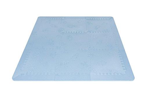 LuBabymats   Alfombra puzzle infantil para bebés  Foam (EVA), suelo extra acolchado para niños, color azul celeste