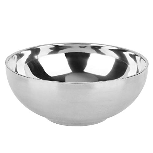 【 】 Cuenco de sopa, fácil de limpiar, borde liso, plateado, doméstico,...
