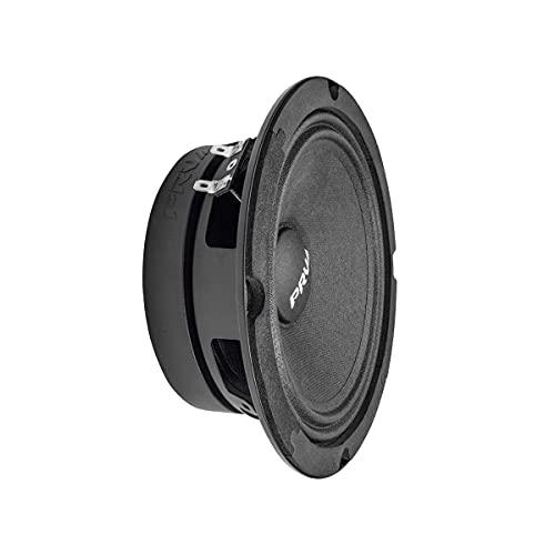 PRV AUDIO 6.5 Inch Shallow Midrange Speaker, 6MR200A-4, 200 Watts Program Power, 4 Ohm Shallow Mount Car Audio Slim Speaker, 1.5 in Voice Coil, 100 Watts RMS, Compact for Doors (Single)