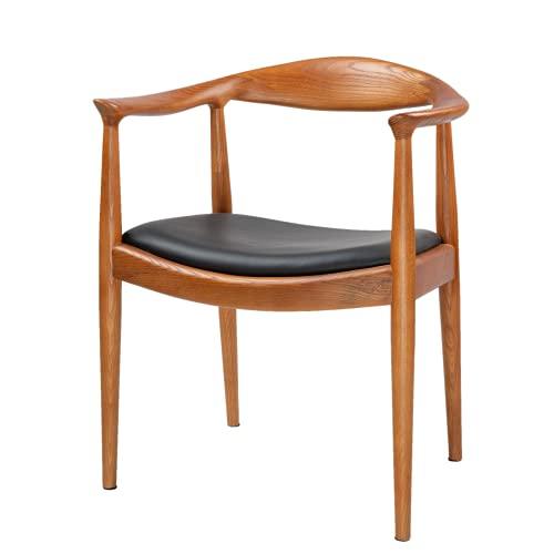 TOMILE Presidente de Kennedy sillas para el comedor, sala de reuniones y sala de estar, silla morden de mediados del siglo con el asiento de la PU, Hans Wegner el color de la silla-castaña