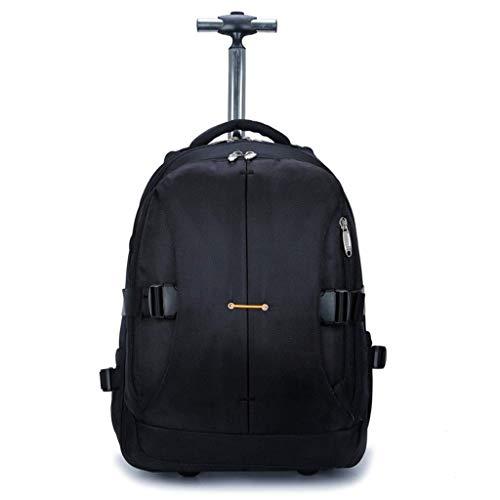 ZLININ Y-longhair Hiking Backpacks, Student Backpack,Rolling Backpack Travel Wheeled Laptop Backpack Women Men Trolley Luggage Suitcase Business Bag College School Computer Bag,Black,M