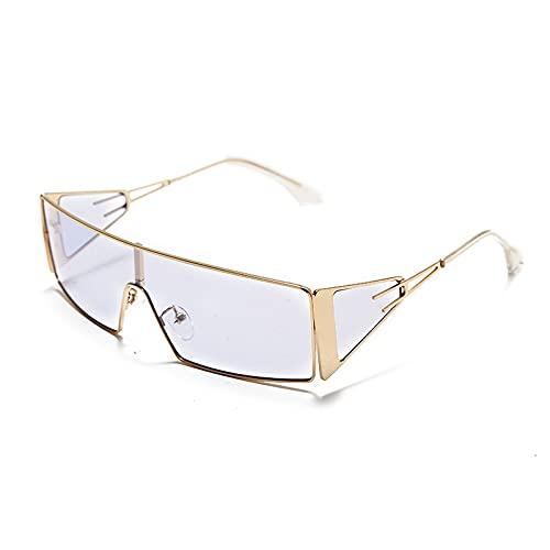 YOUMIYH Ladies One Pieces Gafas de Sol rectangulares Damas Estilo Retro Pequeño Diseñador Retro Gafas de Sol Tendencia Personalidad (Color : D, Size : 1)