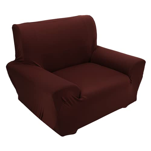 Funda de sofá, funda de sofá individual, 8% fibra de poliuretano, resistente a las arrugas para el hogar (café)