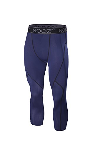 Nooz Herren Quick Dry Powerflex Kompressions-Unterhose Leggings für Männer - Blau - XX-Large