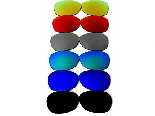 GALAXYLENSE Lentes de reemplazo para gafas de sol de Ray-Ban RB2132 Wayfarer para hombre o mujer 55x1.5x38 Regular Negro y Azul y Verde y Gris y Rojo y Oro