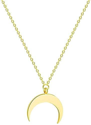 Ahuyongqing Co.,ltd Collar de Acero Inoxidable con Fase Lunar, joyería de Galaxia para Mujer, Estrella fugaz, Colgante de Esmalte Lunar, Collar, Regalos
