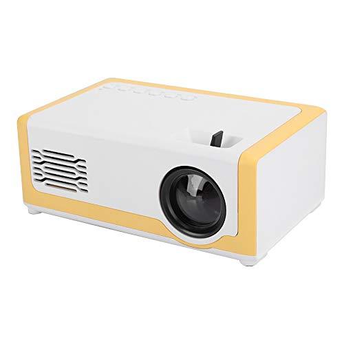 Goshyda Proyector, Mini Reproductor Multimedia inalámbrico portátil de Cine en casa 1080P, para Cajas de TV, computadoras portátiles, Unidades USB, teléfonos Inteligentes(Enchufe de la UE)