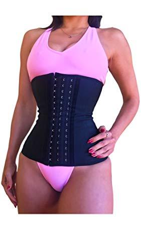 THE BONITA COMPANY. Brazilian Curves Latex Waist Trainer For Women Waist Trimmer Corset Waist Cincher Hourglass Figure Body Shaper (Medium) Black